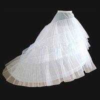 New White Hot Sale Обруч 3 слоя кринолин для свадебного Нижняя юбка платья дешево длинный свадебный кортеж юбка