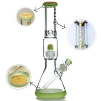 "Colored Glass Beaker Water Pipe Dab Rig 15. 5"" Tall Thic..."