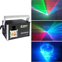 Mini 3W RGB animazione luce laser programma ILDA DJ discoteca Natale e vacanze fase proiettore laser