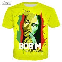 Reggae Hip Hop T-shirts Bob Marley 3D Imprimir Unisex Plus Size T Shirt engraçado Homme Vestuário Criativo de manga curta T Tops