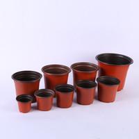 Doppio colore Vasi di plastica Rosso Nero Vivaio Trapianto Bacino Infrangibile Vaso di fiori Home Fioriere Forniture da giardino lin4728