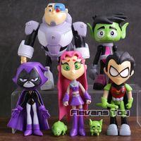 Teen Titans Go Robin Cyborg Beast Boy Starfire Raven Silkie ПВХ фигурки детские игрушки подарки 7 шт./компл. C19041501