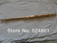 FL-271S cupronickel الذهب ورنيش 16 مفاتيح ثقوب مغلقة الناي جودة عالية e مفتاح الناي جديد الآلات الموسيقية شحن مجاني مع حالة