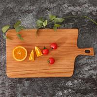 Placa de sushi de la fruta Bandeja Bandeja filete Squre cocina cortando de molde de madera Inicio Tabla de cortar la torta Plato sushi bandejas para servir pan VT1611 Plato