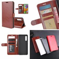 Crazy Horse Portefeuille Cuir pour Samsung Galaxy A90 5G M30S Xiaomi Redmi Note 8 R64 Mad Stand Stand Carte d'identité Card Couverture de la peau de la peau de luxe 50pcs
