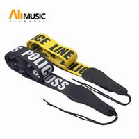 Polis hattı Gutiar Askı ayarlanabilir akustik gitar Askı bas siyah-Sarı