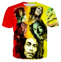 Casual Uomo Womans Bob Marley 3D HD Stampa T-shirt Estate a maniche corte T-shirt O-Collo Stile di modo Unisex Shirt Marca Tees DX043