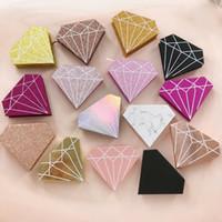 눈에 들어 3D 밍크 속눈썹 Luxry 상자를 포장 사용자 정의 로고 반짝이는 상자 개인 라벨 포장 다이아몬드 유형 원형 모양을 속눈썹