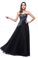 Verkliga bilder 2019 Designer Black Evening Dresses Sweetheart Peacock Broderi Formell Prom Party Gowns Vestidos CPS342