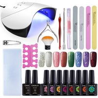 6 8Color Gel Nail Polish Varnish Extension Kit With 36W UV L...