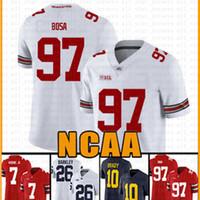NCAA штата Огайо Buckeyes 97 Ник Боза 7 Дуэйн Хэскинс младший американский футбол Джерси 26 Том Брэди Saquon Barkley