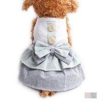 فساتين الصيف زر الديكور الكلب سترة حبال اللباس للكلاب 6071084 ملابس الحيوانات الأليفة XS S M L XL