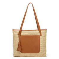 New Woven Straw Bag Handbag Bag Tassel Tote