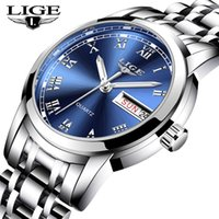 LIGE Mode Femmes Montres Top Montre Femme Bracelet classique en acier inoxydable Femme Horloge 10007