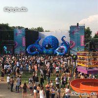 Outdoor Stage Decor Opblaasbare Octopus Tent 8M Giant DJ Octopus Booth voor Concert en Muziek Festival Decoratie