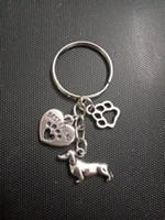 الأزياء والمجوهرات التبتية الفضة السلوقي الكلب dachshund / القلب القط / الكلب مخلب المفاتيح- سحر قلادة مفتاح سلسلة حلقة diy صالح سلسلة المفاتيح - 120