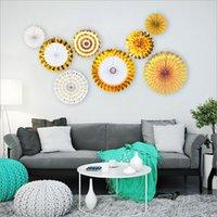 Papel redondo Fan Traje conjunto de flores Boda / Fiesta de cumpleaños / Decoración del hogar Actividad Escena de moda Decoración de moda Fondo de pared