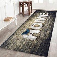 Carpets 3d 60x180 Cm Mat Entrance Doormat Bedroom Floor Decoration Living Room Carpet Bathroom Non-slip Rug Long Strip QW