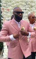 Handsome Pink Mens Coat peaked Lapel For Mens Wedding Suits ...