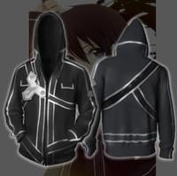 PLstar Cosmos Kirigaya Kazuto Cosplay kılıç sanatı çevrimiçi kılık sonbahar kadın ve erkek 3 d moda baskı fermuar ceket hoodies