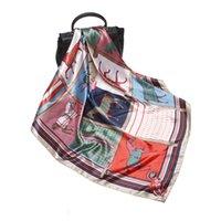 Nuove sciarpe di seta stampata estate Sciarpe da donna 90 cm Grande moda quadrato Sciarpe decorative