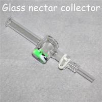 CHOUCHAHS 7.5 pulgadas Collectores de néctar de vidrio con 10 mm 14 mm Tips de cuarzo Keck Clip 5ml Reclaimer Reclaimer Nector Kit de colector para fumar