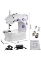 Mini Elétrica Máquina de costura Household portátil de Sew Ponto Início Roupa velocidade de ajuste com Pedal clara do pé