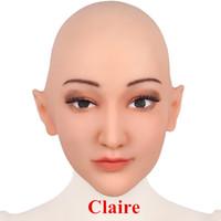 Silikon-Halloween-Maske Gesichts-Silikon-Halloween-Maske Gesicht Menschliche Haut weiblich im April Fool's-Day Maskerade Cosplay Spoof Tricky Requisiten