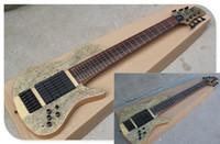 Tastiera in palissandro 24 tasti 6/7 Strings Neck-thru-body Basso elettrico con Bird-eye impiallacciatura di legno, nero Hardware