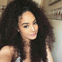 150% Density 4x4 Lace closure Wig Kinky Curly Human Hair Wig...