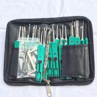 KLOM 32 Pièces de verrouillage Pick a avec étui en cuir - Basic verrouillage Kits Picking pour les professionnels de la serrurerie et les débutants