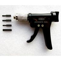 GOSO Yeni Sivil Tak Spinner maymuncuk tabanca seti Hızlı Çilingir Kullanımı için Araçlar Torna