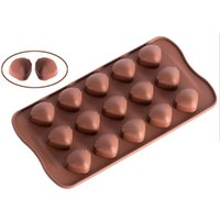 Madeleine shell chocolate molds silicone candy molds 15 cavi...