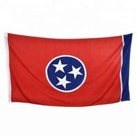 Pirinç Grometler Ücretsiz Denizcilikte ile Tennessee Bayrağı 3x5FT 150x90cm Polyester Baskı Kapalı Açık Asma Sıcak Satış Ulusal Bayrak