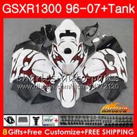 Kit para SUZUKI Hayabusa GSX-R1300 1996 1997 1998 2007 24HC.23 GSXR 1300 GSXR1300 96 97 98 99 00 01 02 03 04 05 06 07 llamas rojas Carenados calientes
