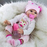 Realistische handgemachte Baby-Puppe Newborn Vinyl-Silikon-Alive-Reborn-Baby-Puppen