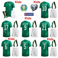 Jersey Northern Ireland Jersey 2020 Coupe d'Europe Chaussettes de football Set Enfants Lafferty Mcnair Davis Magennis McGinn McAuley Football Shirt Kits