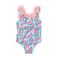 Малыш младенческой девочки арбуз купальник купальники плавание бикини цельный боди купальники для девочек 0-4Years 2020