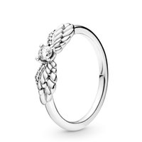 Real 925 Sterling Silver Cubic Zirconia Sparkling Angel Wing...