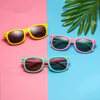 Moda infantil óculos polarizados doces colorem Moldura Completa Rapazes Meninas óculos de sol ao ar livre Viagem Acampamento Praia Eyewear TTA-1058