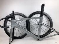 عالية الجودة الطريق دراجة إطار الكربون مناسبة لمجموعة Di2 مع إطارات قرص الفرامل دراجة الكربون الطريق 700C المقود الجذعية LOGO مخصص