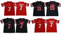청소년 NCAA 오하이오 주 PUCKEYES JERSEY 7 Dwayne Haskins Jr. 15 Ezekiel Elliott College Jerseys 고품질 S-XL 재고 무료 배송