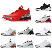 2019 Air Jordon Retro Series 3 3s III 3 Herren-Basketball-Schuhe Chlorophyll Varsity Red Tinker Weiß Cement Katrina Sports Turnschuhe 8-13