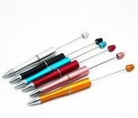 أدوات DIY عيد الميلاد هدايا ترويجية اليدوية للأطفال لعبة أطفال فارغ إضافة إلى مطرز الخرز استبدال الكرة القلم Beadable القلم للعب SN405
