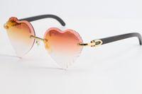 بيع جديد بافالو القرن نظارات بدون إطار 3524012 الأبيض حقيقية القرن النظارات الشمسية الأعلى ريم التركيز نظارات سليم ومطول المثلث عدسات