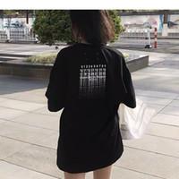 venta caliente nueva MMtee número TEE camiseta de manga corta de la calle principal Hombres Mujeres Verano alta ocasional de la calle monopatín hip hop camiseta negro