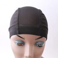 Wig Caps Dome maglia di stile Adustable Parrucche Caps per la fabbricazione di parrucche e Combs Nero Beige Flexiable Free Dimensioni