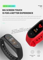 30 stücke Heißer Verkauf M4 Smart Armband Band Armbänder Fitness Tracker Gesundheit Pulsmesser Bluetooth Für Android Iphone Pk M3 ID115