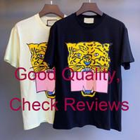 T-shirt estiva per le donne Mens magliette con lettere animali stampato moda manica corta Lady maglietta Casual Tops Abbigliamento 2 colori M-2XL