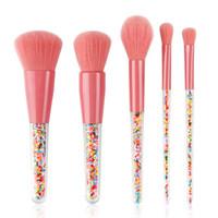 DHL Yeni 5 adet Lolipop Şeker Unicorn Kristal Makyaj Fırçalar Set Renkli Güzel Vakıf Karıştırma Fırçası Makyaj Aracı air11 tarafından maquillaje
